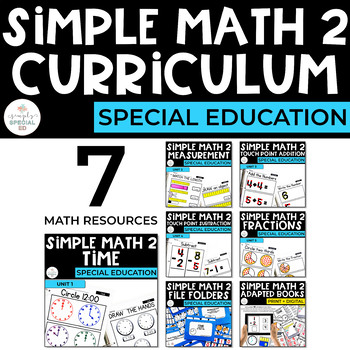 Simple Math Set 2 Curriculum Bundle for Special Education