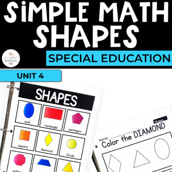 Simple Math:Shapes Unit for Students with Special Needs
