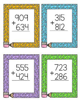 Simple Math Task Cards + - x