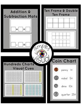 Simple Math Visual Supports for Sterilite Boxes