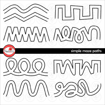 Simple Maze Paths Clipart by Poppydreamz