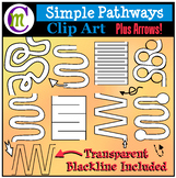 Simple Pathways Clip Art