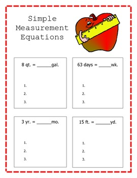 Simple Measurement Equations