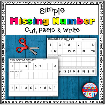 Simple Missing Number Cut, Paste & Write
