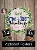 Simple + Modern Alphabet Posters