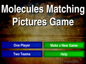 Simple Molecules Interactive Matching Pairs Pictures Game