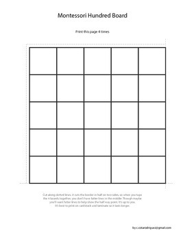 Simple Montessori Hundres Board & Numbers