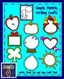 Simple Monthly Writing Crafts for the Whole Year