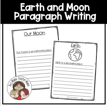 Simple Moon Paragraph Writing Activity