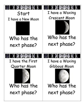 Simple Moon Phases I Have...Who Has