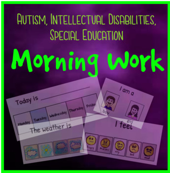 FREE Special Education Morning Work for Life Skills and Autism