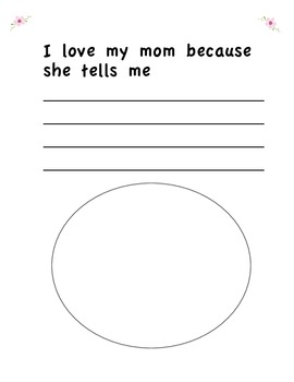 Simple Mother's Day Writing Book Activity Gift
