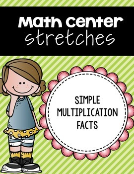 Simple Multiplication Facts 1 Digit by 1 Digit Center Strips