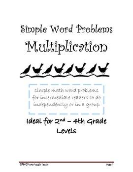 Simple Multiplication Word Problems for Intermediate Readers