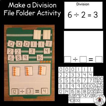 Simple Multiplication and Division File Folder Activities with Blank Printables