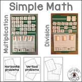 Simple Multiplication and Division File Folder Activities