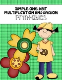 Simple Multiplication and Division Printables