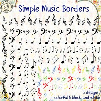 Simple Music Borders