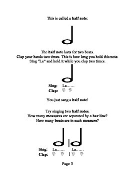 Simple Music Note Values, Early Piano Lessons