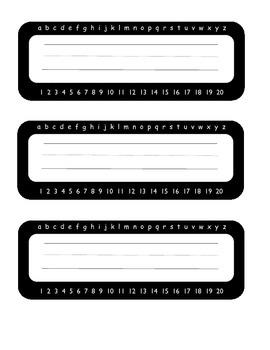 Free Black Simple Name Plates