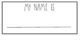 Simple Name Tags - B&W / Rainbow