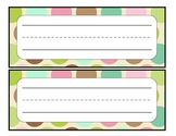 Simple Name Tags with polka dots