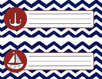 Simple Nautical Nametags