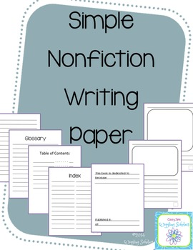 Nonfiction Writing Paper