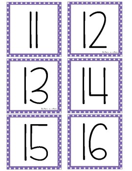 Simple Number Cards 0-100