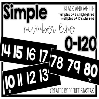 Simple Number Line 0-120