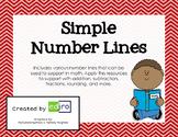 Simple Number Lines