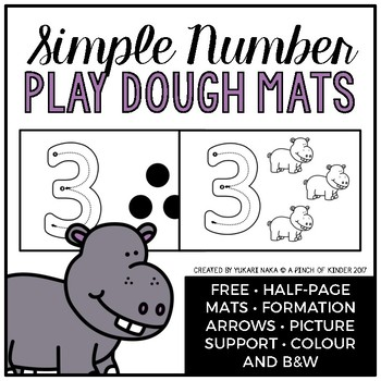 FREE Simple Number Play Dough Mats
