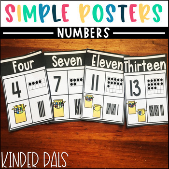 Number Posters-Plain and Simple