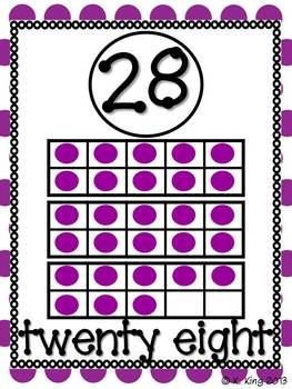 Simple Number Posters *Add-On* 21-30