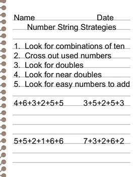 Simple Number String Strategies