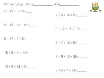 Simple Number Strings