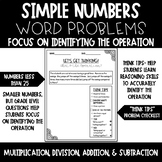 Simple Numbered Word Problems- Multiplication, Division, Subtraction, Addition