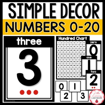 Simple Numbers 0-20 Posters