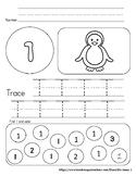 Simple Numbers 1-10 Winter Packet