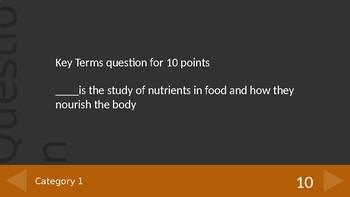 Simple Nutrition Jeopardy
