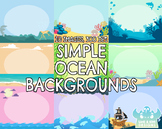 Simple Ocean Backgrounds (Lime and Kiwi Designs)