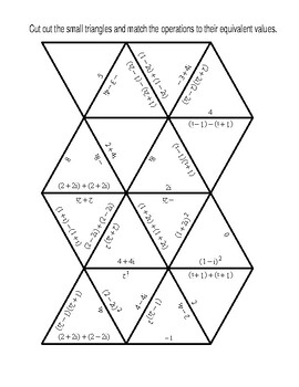 Simple Operations on Complex Numbers Triangle Puzzle