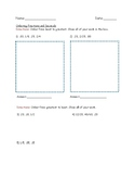 Simple Ordering Fractions and Decimals Worksheet