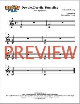 Orff Sheet Music - Simple Orff Singles – Dee-dle, Dee-dle, Dumpling
