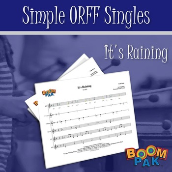 Orff Sheet Music - Simple Orff Singles – It's Raining