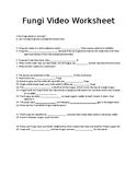 Simple Organisms in Action: Fungi Video Worksheet