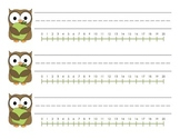 Simple Owl Name Tags with 0-20 Number Line