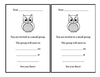 Owl Small Group Invitation