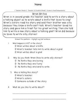 Text Evidence Passage - Wren Writes