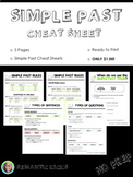 Simple Past Cheat Sheet Reference Guide (NO PREP)